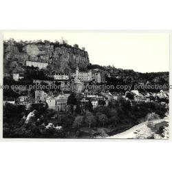 46500 Rocamadour / France: View Over Village / Rocks (Vintage Photo 1960s/1970s)