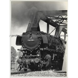 German Steam Train 44 118 In Motion / Locomotive (Vintage Photo B/W 1966)