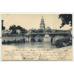 Murcia / Spain: El Puente Y La Catedral / Bridge And Cathedral (Vintage Postcard 1903)