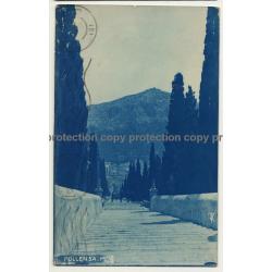 07460 Pollensa / Mallorca: 365 Escalones de Calvario (Vintage RPPC 1924)