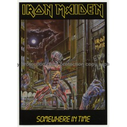 Iron Maiden - Somewhere In Time (Vintage Official Postcard UK 1986)