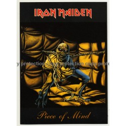 Iron Maiden - Piece Of Mind (Vintage Official Postcard UK 1985)