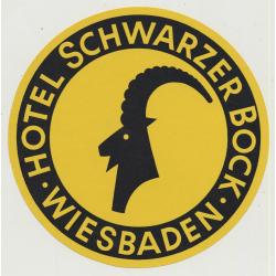 Hotel Schwarzer Bock - Wiesbaden (Vintage Luggae Label Ø 12 CM)