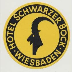 Hotel Schwarzer Bock - Wiesbaden (Vintage Luggae Label Ø 9 CM)