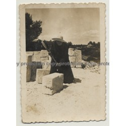 Mallorca / Spain: Picapedrero Marès / Stonemason Marès 2 (Vintage Photo ~1940s)