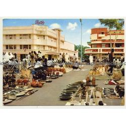Léopoldville / Congo: Ivory And Wood Market / Pepsi Cola (Vintage Postcard 1965)