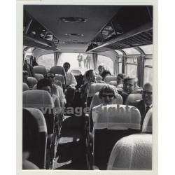 1966 Setra S Bus / Rare Inside View (Vintage Photo)