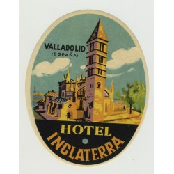 Hotel Inglaterra - Valladoid / Spain (Vintage Luggage Label)