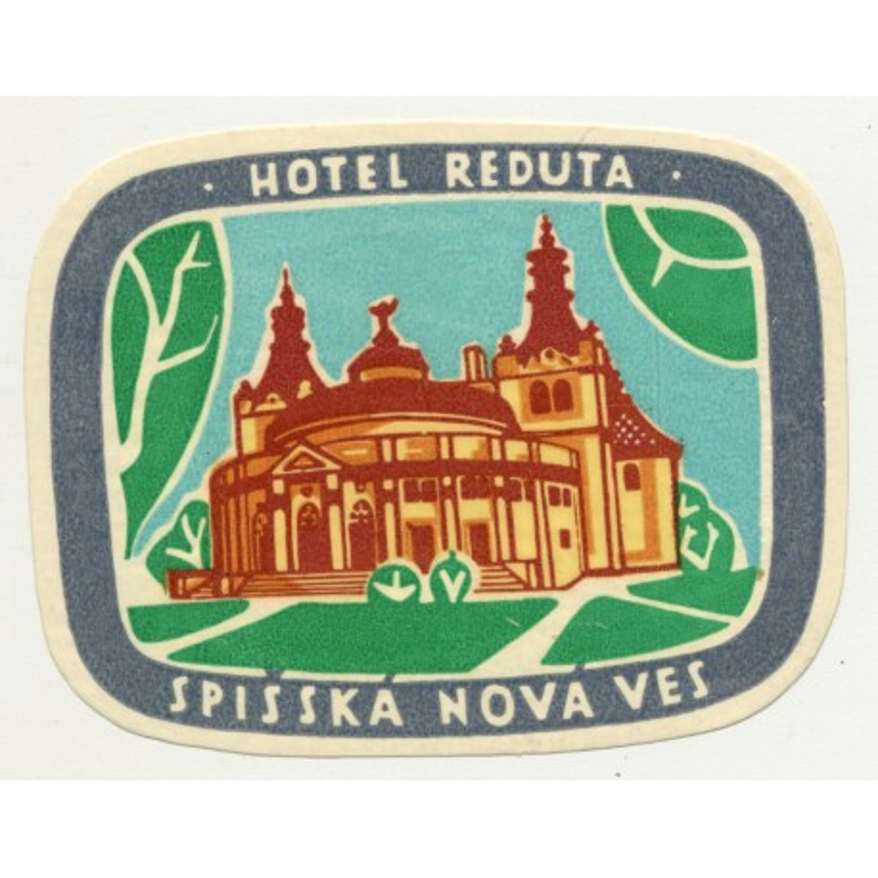 Hotel Reduta - Spisska Nova Ves / Czechoslovakia (Vintage Luggae Label)