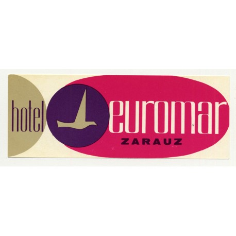 Hotel Euromar - Zarauz (Gipuzkoa) / Spain (Vintage Luggae Label)