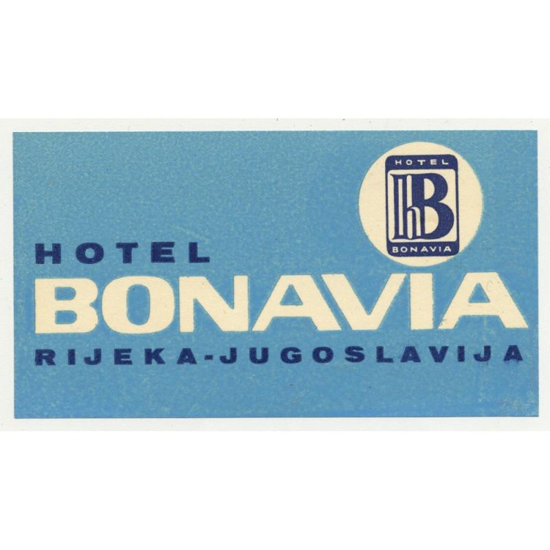 Hotel Bonavia - Rijeka / Croatia (Vintage Luggae Label)