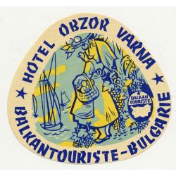 Hotel Obzor - Varna / Bulgaria (Vintage Luggae Label)