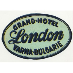 Grand-Hotel London - Varna / Bulgaria (Vintage Luggae Label)