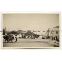 Congo: Street Scene Leopoldville? / Handcart (Vintage Photo B/W 1928)