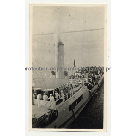 Colonial Masters On Board Of Steamer 'Colonel Thys' (Vintage Photo B/W 1928)