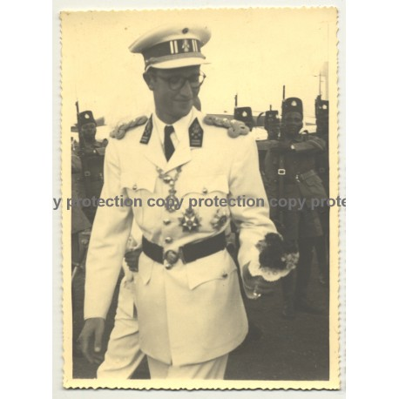 Le Roi Baudouin En Congo / King Baudouin In Congo (Vintage Photo B/W 1955?)