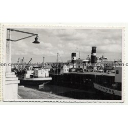 Port Facilities Of Stanleyville & Steamers / Congo - Africa (Vintage RPPC B/W 1955)
