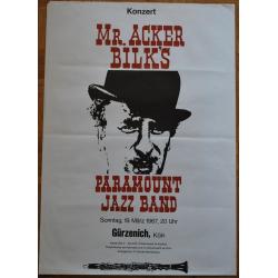 Mr. Acker Bilk's Paramount Jazz Band (Vintage Jazz Concert Poster)