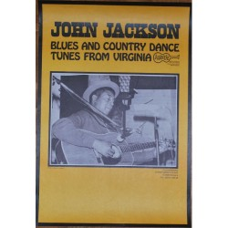 John Jackson - Blues & Country Dance Tunes From Virginia (Vintage Arhoolie Poster)