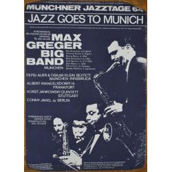 Jazz Goes To Munich / Münchner Jazztage 64: Mangelsdorff, Menza... (Vintage Screen Printed Poster)