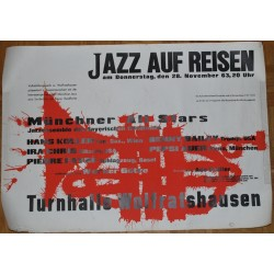 Münchner All Stars - Jazz Auf Reisen 1963 / Koller - Bailey - Favre.. (Vintage Screen Printed Poster)