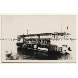 Steamboat Berwinne On Congo River *2 / Africa (Vintage RPPC B/W)