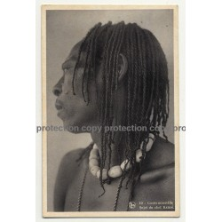 Portrait Of Chief Kalare / Costermansville - Congo (Vintage Postcard NELS B/W)