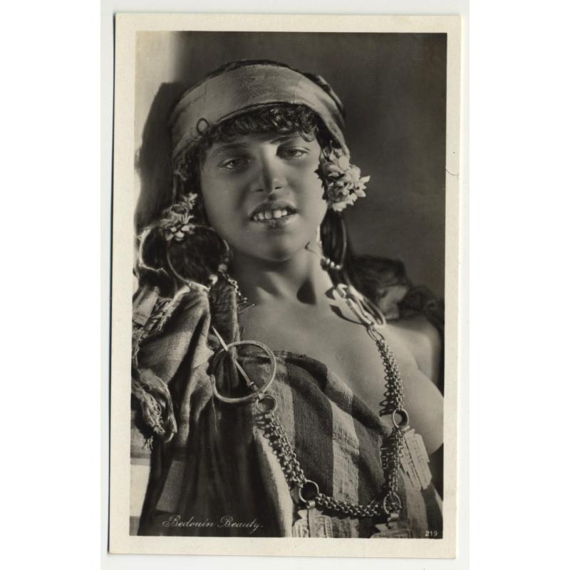Lehnert & Landrock: Bedouin Beauty (Vintage RPPC 1920s/1930s)