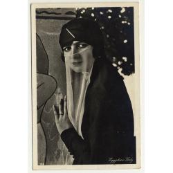 Lehnert & Landrock: Elegant Lady (Vintage RPPC 1920s/1930s)