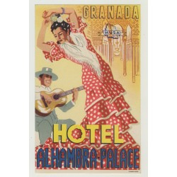 Hotel Alhambra Palace - Granada / Spain (Luggage Label)