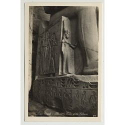 Lehnert & Landrock: Luxor Temple - Little Queen Of The Colossus (Vintage RPPC 1920s/1930s)