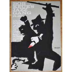 Bob Keue's Jazz Gang At South Border Jazz Club (Vintage Screen Printed Poster)