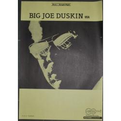 Big Joe Duskin Blues + Boogie-Night (Vintage Arhoolie Tour Poster)