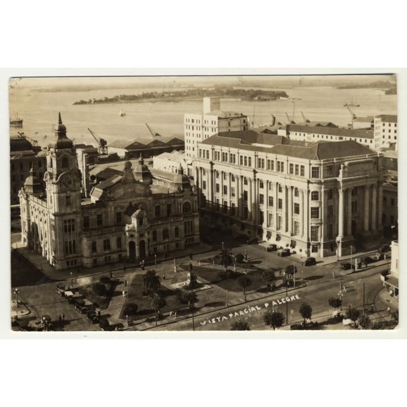 Porto Alegre / Brazil: Vista Parcial (Vintage RPPC 1939)