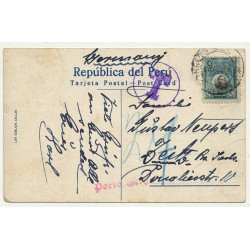 Lima / Peru: Alameda De Los Descalzos (Vintage Postcard ~1920s)