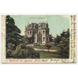 Buenos Aires / Argentina: Quinta En Caballito (Vintage Postcard 1905)