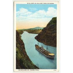 The Gaillard Cut / Panama Canal (Vintage Postcard ~1920s)