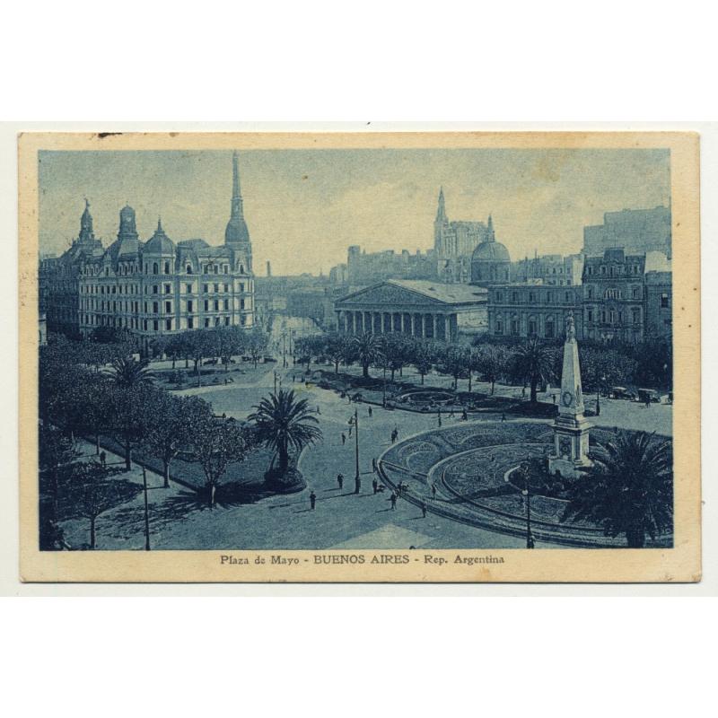 Buenos Aires / Argentina: Plaza De Mayo (Vintage Postcard 1916)