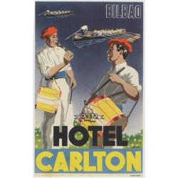 Hotel Carlton - Bilbao / Spain (Luggage Label)