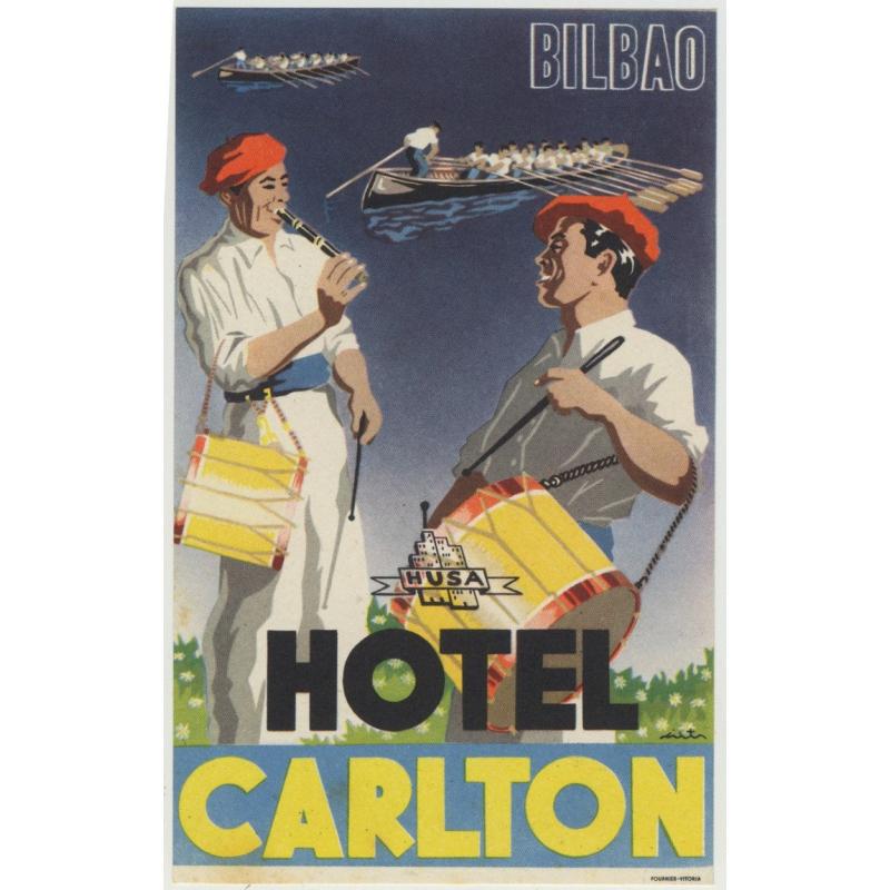 Hotel Carlton - Bilbao / Spain (Luggage Label)
