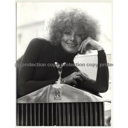 Happy Woman Lingers On Bonnet Of Rolls Royce / Emily (Vintage Photo  ~1970s/1980s)