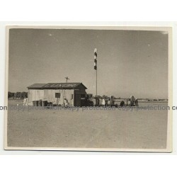 Luxor / Egypt: Airport - Airfield - Hangar - Aerodrome (Vintage Photo B/W ~1930s/1940s)