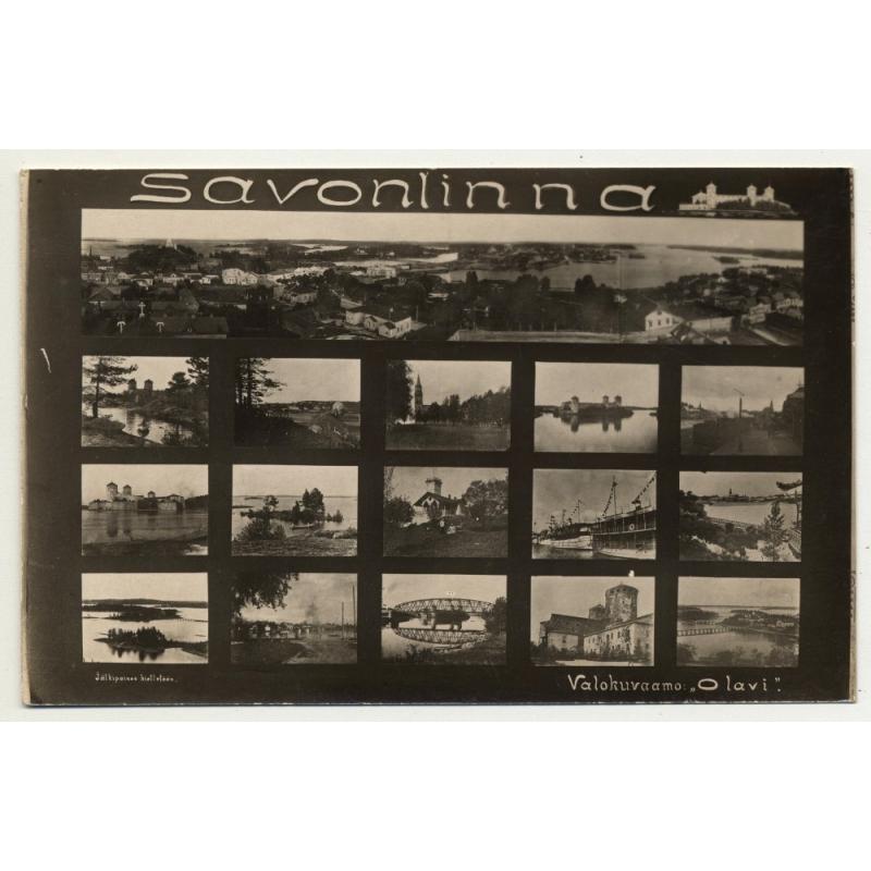 Savonlinna / Finland: Valokuvaamo 'Olavi' (Vintage RPPC B/W)