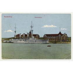 6400 Sonderborg/ Denmark: Marine Station (Vintage Postcard 1914)