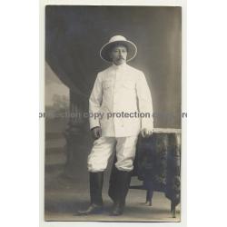 Africa: Sir Henry Morton Stanley / Tropical Uniform (Vintage RPPC B/W Gelatin Silver)