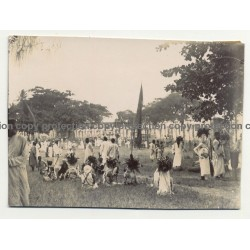A.R.P. De Lord: Group Of Natives - Headdress - Zanzibar / Tanzania (Vintage Photo ~1920s/1930s)