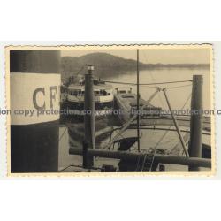 Congo / Africa: Harbor Of Ponthierville (Vintage RPPC B/W ~1920s/1930s)