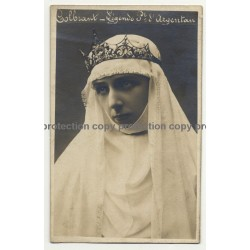 Actress: Colbrant / Légende Du Point D'Argentan (Vintage RPPC B/W ~1900s/1910s)