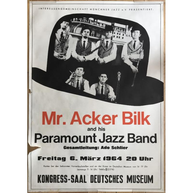 Mr. Acker Bilk - Deutsches Museum - Munich 1964 (Vintage Poster)