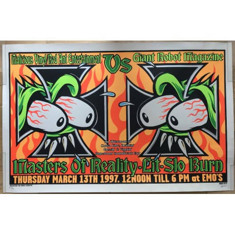 March 13th 1997: Masters Of Reality / Lit / Slo Burn - Kozik (Vintage Screen Print Poster)